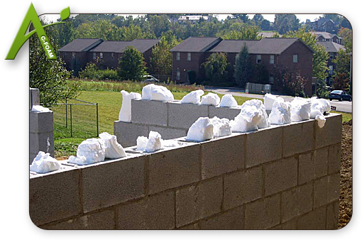 Commercial injection foam insulation applegate c foam for Insulated concrete masonry units